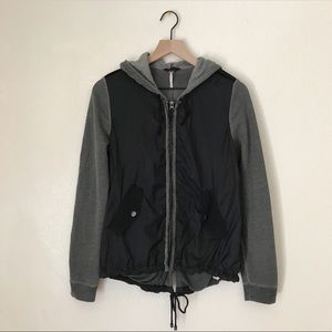 Free People Hooded Windbreaker Zippered Jacket XS